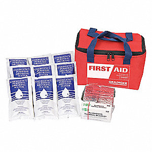 Personal Survival Kit,16 Piece,Red