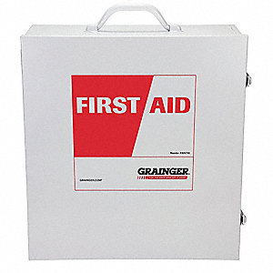 Empty First Aid Cabinet,Wall Mount,Metal