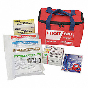 First Aid Kit,Bulk,Red,46 Pcs,50 People