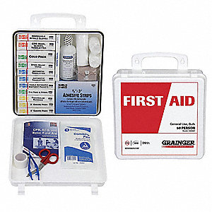 First Aid Kit,Bulk,White,175 Pcs,50 Ppl