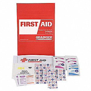 First Aid Kit,Bulk,Red,38 Pcs,5 People