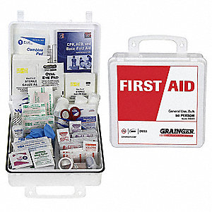 First Aid Kit,Bulk,White,50 People