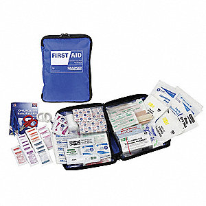 First Aid Kit,Bulk,Blue,50 People