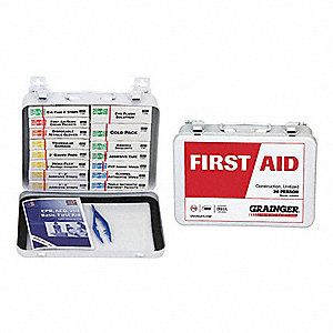 First Aid Kit,Unitized,White,20 People