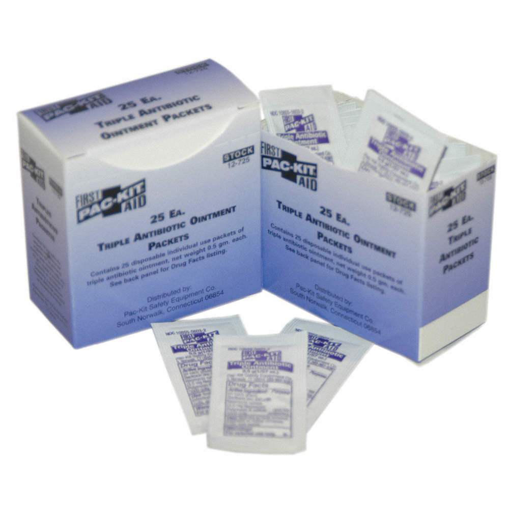PAC-KIT Antibiotics, Ointment, Box, Wrapped Packets, 0 020