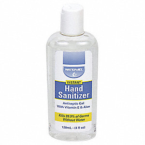 Hand Sanitizer, Gel, Bottle, 4.000 oz.