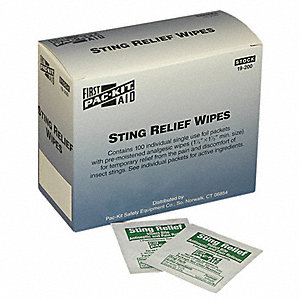 "Sting Relief Wipes, 2-1/8"" Wipes"