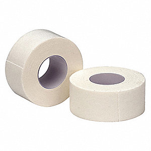 Tape,White,Cloth,1 In. W,10 ft. L