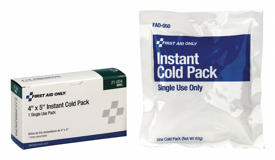 4 in x 5 in White Instant Cold Pack, 1EA