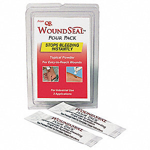 Wound Seal,  Potassium Salt,  Waterproof No,  Includes (2) Wound Seal Packets,  PK 2
