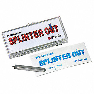 Splinter Removal Tool, Packaged In Hard Plastic Case, 10 PK