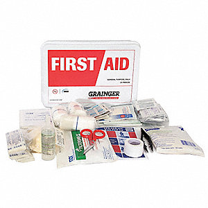 First Aid Kit,Bulk,White,23 Pcs,25 Ppl