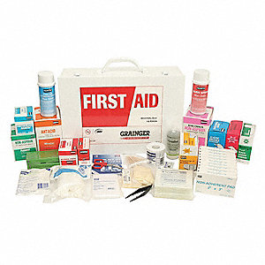 First Aid Kit,Bulk,White,24 Pcs,100 Ppl