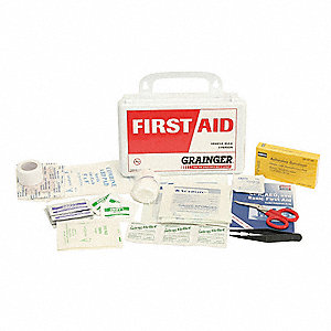 First Aid Kit,Bulk,White,14 Pcs,3 People