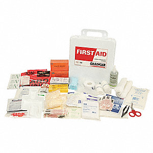 First Aid Kit, Kit, Polypropylene Case Material, General Purpose, 25 People Served Per Kit