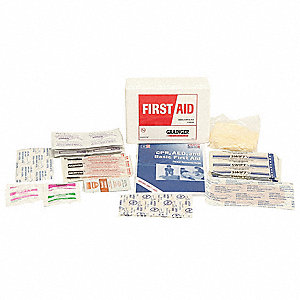 First Aid Kit,Unitized,White,12Pcs,10Ppl