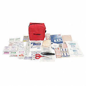 Personal Survival Kit,31 Piece,Red