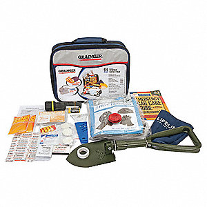 Personal Survival Kit,13 Piece,Blue