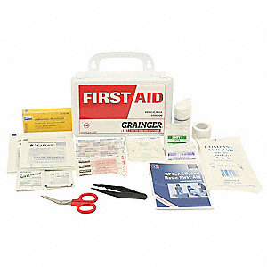 First Aid Kit, Kit, Polypropylene Case Material, General Purpose, 3 People Served Per Kit