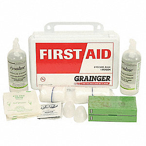 First Aid Kit, Kit, Polypropylene Case Material, General Purpose, 1 People Served Per Kit