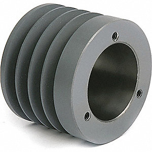 "V-Belt Pulley,2-3/8""Detachabl,3.75""OD"