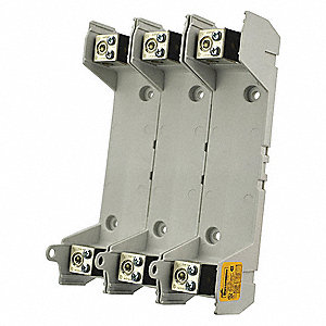 3-Pole Industrial Fuse Block, AC: 600VAC, DC: 300VDC, 65 to 100A, Series FRN, FRS, KTN-R, KTS-R, LPN
