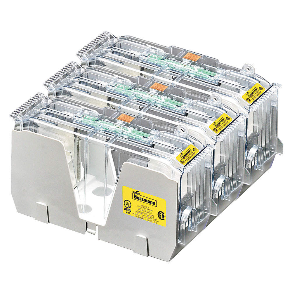 Eaton Bussmann 3 Pole Industrial Fuse Block Ac 600vac Dc 300vdc Holder Distribution Box Zoom Out Reset Put Photo At Full Then Double Click