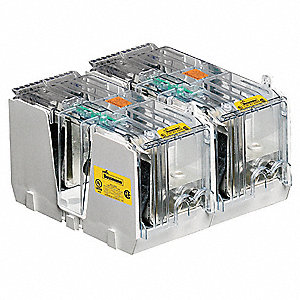 2-Pole Industrial Fuse Block, AC: 600VAC, DC: 300VDC, 450 to 600A, Series LPJ, JKS, DFJ