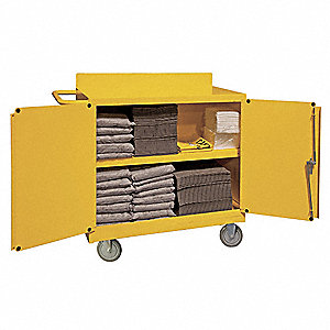 Yellow Spill Control Cart