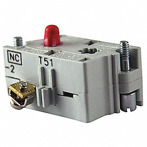 Contact Block, 30mm, 1NC Contact Form, 10A @ 660VAC/DC Contact Rating