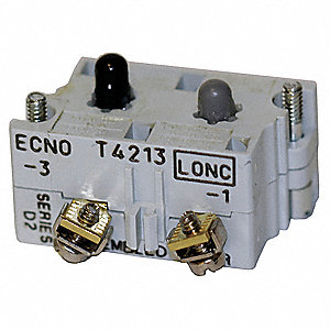 Contact Block, 30mm, 1NC/1NO Contact Form, 10A @ 660VAC/DC Contact Rating