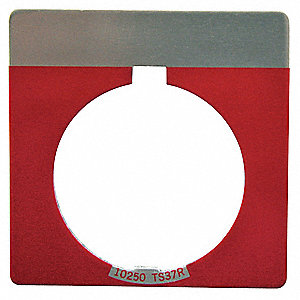 Blank Legend Plate,Square,Red