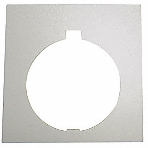 30mm Square Blank Legend Plate, Aluminum, Black