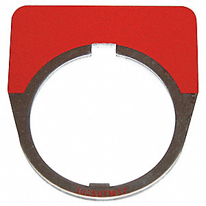 Blank Legend Plate,Half Round,Red