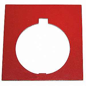 30mm Square Blank Legend Plate, Aluminum, White/Black and Red