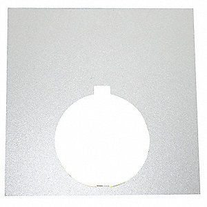 30mm Square Blank Legend Plate, Aluminum, Silver