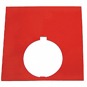 30mm Square Blank Legend Plate, Aluminum, Red
