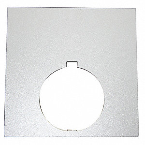 30mm Square Blank Legend Plate, Aluminum, White