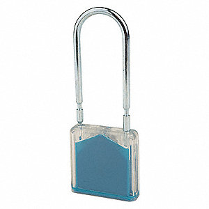 Padlock Seal,3-1/4 x 7/16 In,Blue,PK350