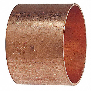 "Wrot Copper Coupling with Stop, C x C Connection Type, 2"" Tube Size"