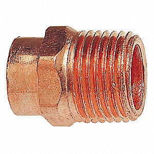 "Wrot Copper Adapter, C x MNPT Connection Type, 3/8"" Tube Size"
