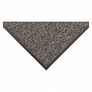 "Outdoor Entrance Mat, 5 ft. L, 3 ft. W, 3/8"" Thick, Rectangle, Gray"