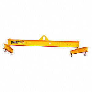 "Adjustable Lifting Beam, 20,000 lb., Max. Spread 144"", Min. Spread 72"", Headroom 42"""