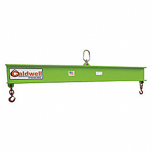 "Fixed Spread Lifting Beam, 500 lb., Max. Spread 168"", Headroom 18-1/2"""