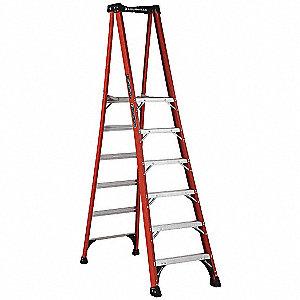 Louisville Fiberglass Platform Stepladder 8 Ft 6 Quot Ladder Height 5 Ft 8 Quot Platform