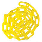 1-1/2IN PLASTIC CHAIN YELLOW 100FT