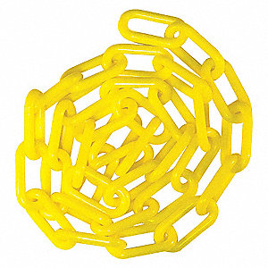 1-1/2IN PLASTIC CHAIN YELLOW 50FT