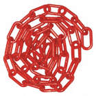 1-1/2IN PLASTIC CHAIN RED 100FT