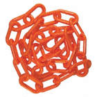 1-1/2IN PLASTIC CHAIN ORANGE 100FT