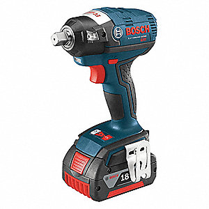 Bosch 1 2 Cordless Impact Wrench Kit 18 0 Voltage 184 Ft Lb Max Torque Battery Included 39ry35 Iwmh182 01 Grainger
